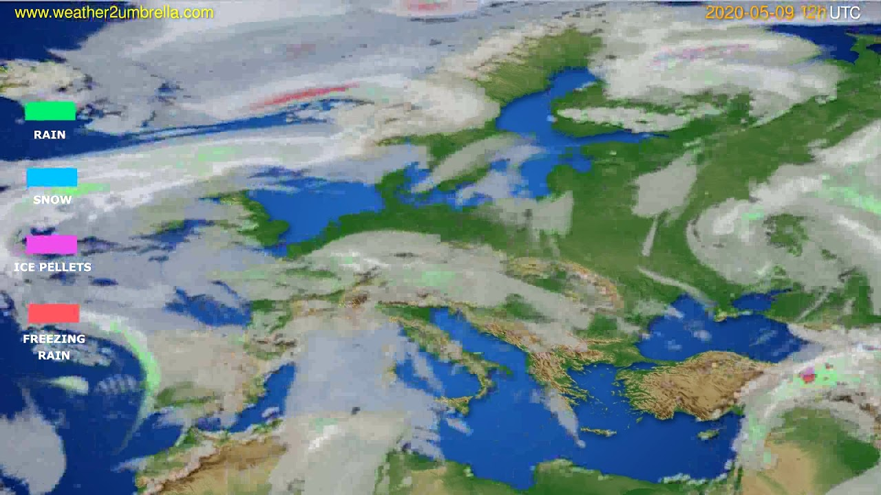 Precipitation forecast Europe // modelrun: 00h UTC 2020-05-09