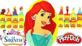 Ovo Surpresa Gigante da Princesa Ariel A Pequena Sereia em Português Brasil de Massinha Play Doh