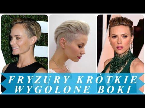 Krótkie Fryzury Damskie 2018 Wygolone Boki игровое видео