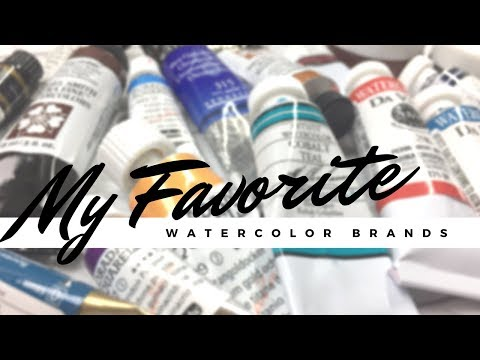 My Top 10 Favorite Watercolor Brands | Professional & Student Grade Recommendations