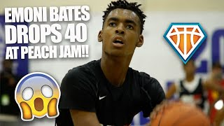 EMONI BATES 40 BALL AT PEACH JAM!! | Future Michigan State Spartan WAS ON A TEAR Last Summer