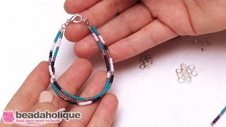 How To Make A Simple Beaded Friendship Bracelet
