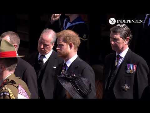العرب اليوم - شاهد : مراسم تشييع جنازة الأمير فيليب زوج ملكة بريطانيا