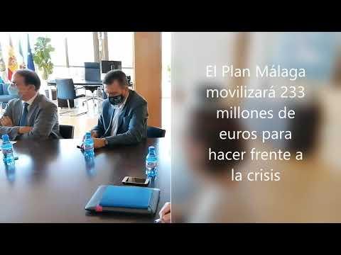 Salado expone a los empresarios malagueños las líneas maestras del Plan Málaga