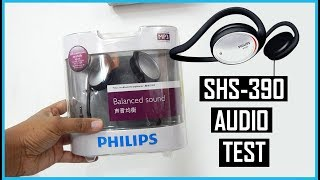 PHILIPS SHS390 HEADPHONES UNBOXING & SOUND TEST