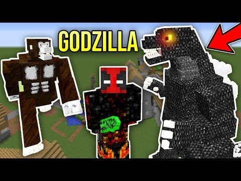 Minecraft GODZILLA MODU (King Kong Üç Başlı Ejderha) - En Büyük Yaratıklar Modu