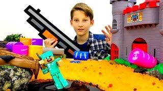 Секреты игры Майнкрафт - Стив на фабрике мобов Minecraft!