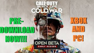 How To Pre Download Cold War Beta On Xbox and PC RIGHT NOW! // Call Of Duty Black Ops Cold War