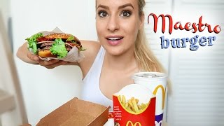 EATING SHOW: McDonalds Maestro Burger!!!! WIth Old Amsterdam Cheese!!!