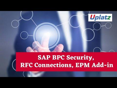 SAP BPC Security, RFC Connections, EPM Add-in | SAP BPC ...