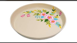 Decorative Bowl Review!  Hand Painted Round Serving Tray By Indian Artisans Painted!