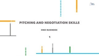 Pitching & Negotiation Skills 1 HND Business