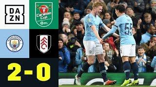 Brahim Diaz Trifft Doppelt Bei De-Bruyne-Comeback: City - Fulham 2:0   Carabao Cup   DAZN Highlights