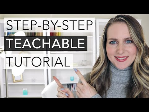 How To Create an Online Course with Teachable (Step-by Step ...