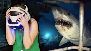 PRIMEIRA VEZ DA SAPECA COM REALIDADE VIRTUAL!!! Ocean Descent Demo no PlayStation VR!
