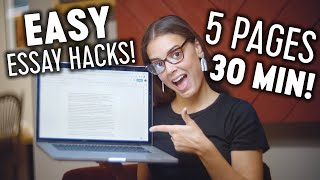 Write an Essay in 30 MINUTES!! | Essay Writing Hacks