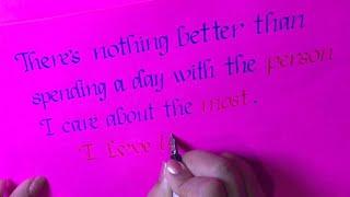 Valentine's Day / Calligraphy / Love / Greeting Card / How To Write Beautiful Handwriting