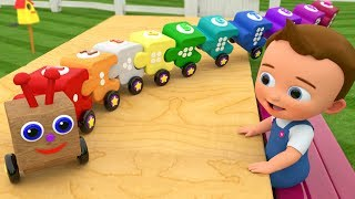 Caterpillar Wooden Train Toy Set - Little Baby Fun Play Kids Learn Colors & Numbers for Children