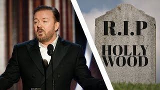 Gervais Pounds Hollywood Into Dust