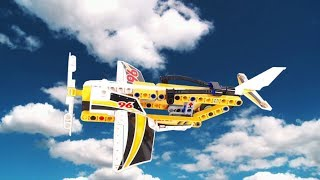 Lego Technic Stunt Plane Speed Build, Stop Action, Invisibuild