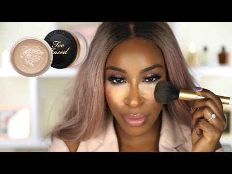 Does it Give Flashback Tho?! Too Faced Born This Way Setting Powder   Jackie Aina