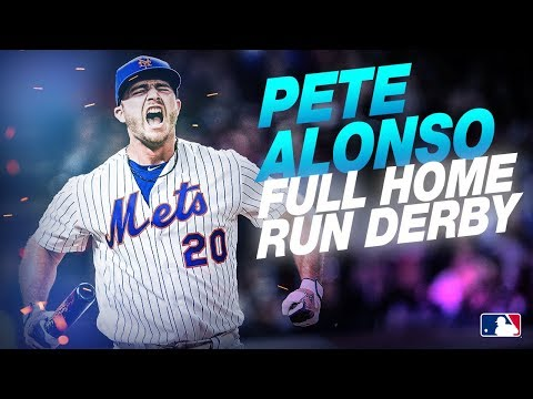 Pete Alonso Full Home Run Derby Highlights (Home Run Derby Champ!)