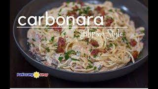 Creamy Bacon and Mushroom Carbonara (Filipino Style )