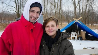 Homeless Couple's Love Keeps Them Warm in Ithaca's Cold Weather.