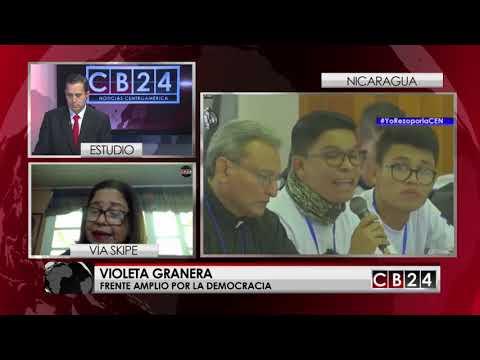 """Violeta Granera: """" El pueblo nicaragüense no está armado"""""""