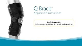 Video: Bio Skin Q Brace Patellofemoral Knee Brace