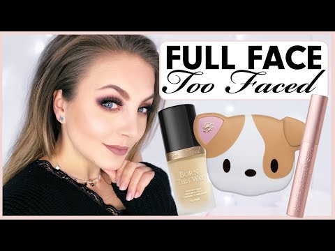 FULL FACE Too Faced 🐶💥One Brand Make Up Tutorial deutsch