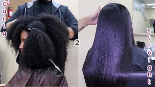 Curly to Straight | My First Silk Press Experience | Marquita Sherice