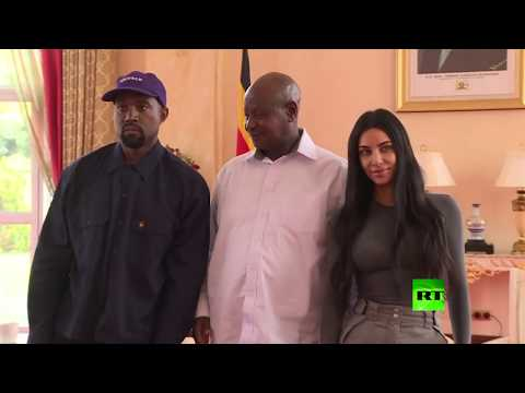 العرب اليوم - شاهد: تعرف على هدية كيم كارداشيان وزوجها إلى الرئيس الأوغندي