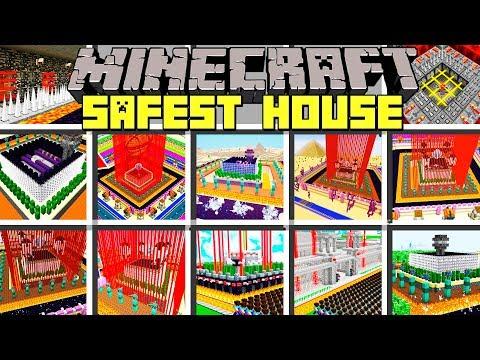 Minecraft SAFEST HOUSES MOD / BUILD UNBREAKABLE HO   Youtube