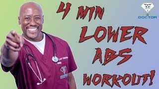 4 Minute Lower Ab Workout by Dr Levi Harrison