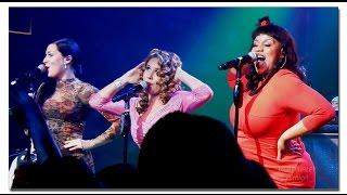 "Haley Reinhart, Ariana Savalas & Maiya Sykes ""All About That Bass"" Las Vegas"
