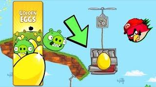 Bad Piggies - INVISIBLE GOLDEN EGG INSIDE THE V8 ENGINE! Egg X 3