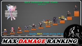 [FFBE] 7 Stars McDOT: PHY Damage Ranking. Who Is The Best 7⭐ In GL Today?