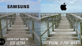 Samsung Galaxy S20 Ultra Camera vs Apple iPhone 11 Pro Max Video Stabilization Test - WOW!