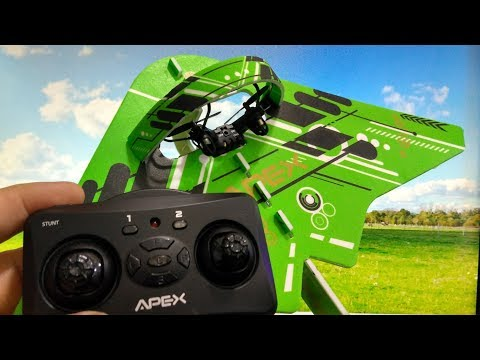 APEX M23K Airplane DIY 2 in 1 Glider 2.4G RC Drone Quadcopter RTF fom Banggood