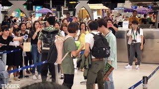 [FANCAM] Krist&Singto Ft.Off New Heading To Japan ThipOishi @ Suvarnabhumi Airport 25-07-2018