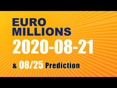 Winning numbers prediction for 2020-08-25|Euro Millions