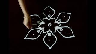 7 X 4 Dots Sikku Kolam Kambi Kolam With Dots Melikala Muggulu Simple