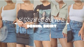 5 WAYS TO WEAR A DENIM SKIRT