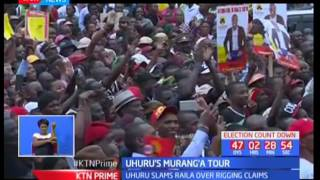 President Uhuru Kenyatta rubbishes claims made by Raila Odinga over alleged plans to rig elections