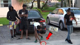 DROPPING MONEY IN THE HOOD! | Social Experiment