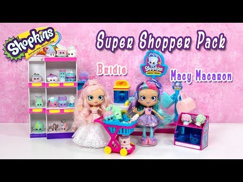 NEW Shopkins Macy Macaron And Bridie Super Shopper Pack Costco Exclusive HOT Christmas Gift