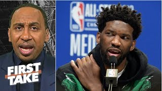 Stephen A. disagrees with Joel Embiid naming Wilt Chamberlain the GOAT over MJ | First Take
