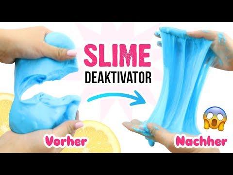 DIY Schleim REPARIEREN! Trockenen Slime WEICHMACHEN! Anleitung für Schleim Deaktivator! Deutsch