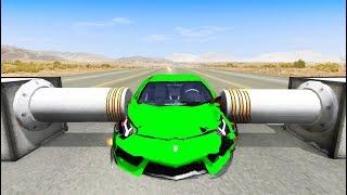Satisfying Car Crashes Compilation #7 Beamng Drive (Car Shredding Experiment)